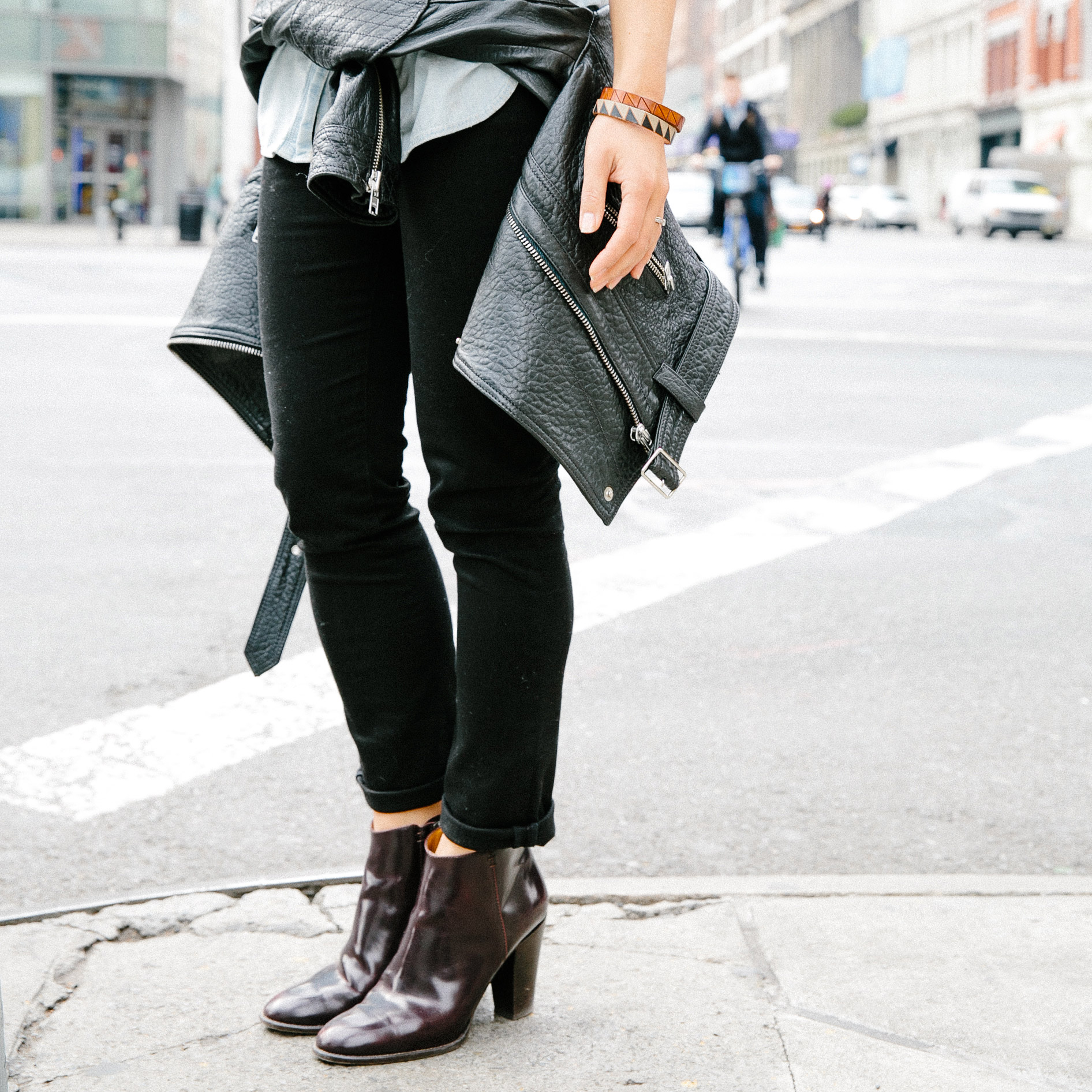 Flannel Motorcycle Jacket >> Noticed: Leather Jackets Tied Around The Waist | Madewell